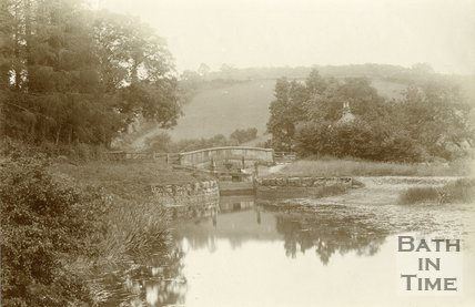 Lock 16 on the Somersetshire Coal Canal, looking towards South Stoke 1894