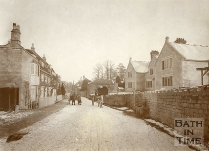 Bathampton Lane sprinkled with snow, Bathampton 1906