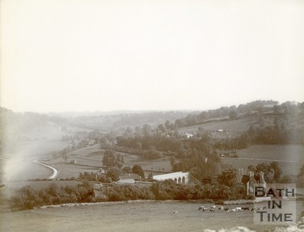 View from Brassknocker Hill towards Limpley Stoke c.1905