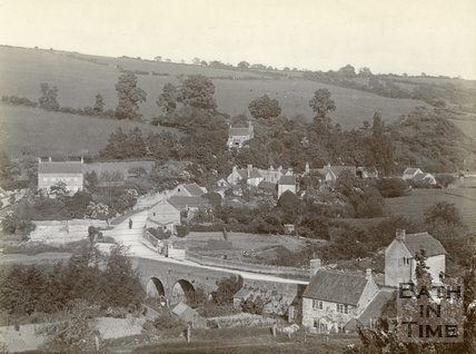View of Midford from Tucking Mill Lane c.1905