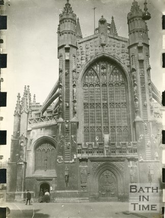 The west front of Bath Abbey, Bath 1898