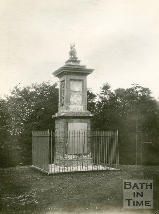The Lansdown Monument, Lansdown, Bath 1898