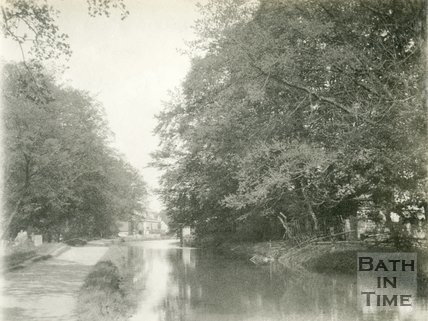 The Kennet and Avon Canal, approaching Bathampton from Bath 1898