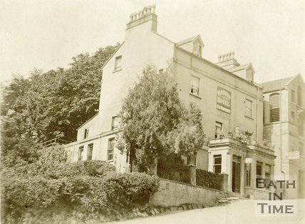 The Viaduct Hotel at the foot of Brassknocker Hill, Monkton Combe c.1910