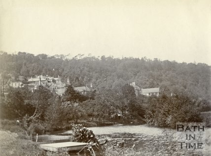 View of Limpley Stoke from the River Avon c.1900