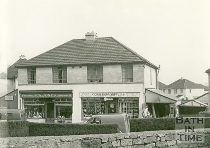 Combe Down Supplies and F.W. Jones, Greengrocer, Corner of North Road and Combe Road, Combe Down, Bath c.1960