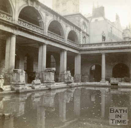 The Roman Great Bath, Bath c.1906