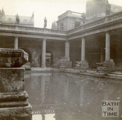 The Roman Great Bath, Bath c.1906