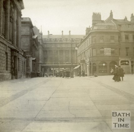 The Grand Pump Room Hotel, viewed from Abbey Church Yard, Bath c.1906