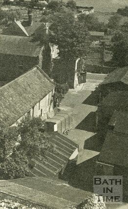 A view of the entrance and yard from Harbutt's Plasticine Works, Bathampton 1930s