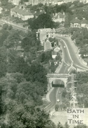 Aerial view of Bathford Bridge c.1960
