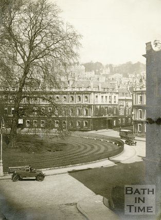 The Circus viewed from Gay Street, Bath c.1925