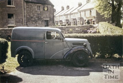 A van at the Junction of Combe Road and Bradford Road, Combe Down, Bath 1957