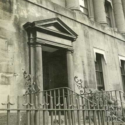 The entrance to 1, Royal Crescent, Bath c.1945