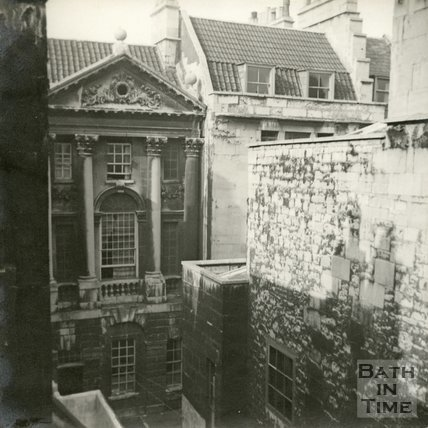 The rear of Ralph Allen's townhouse behind Terrace Walk, Bath c.1945
