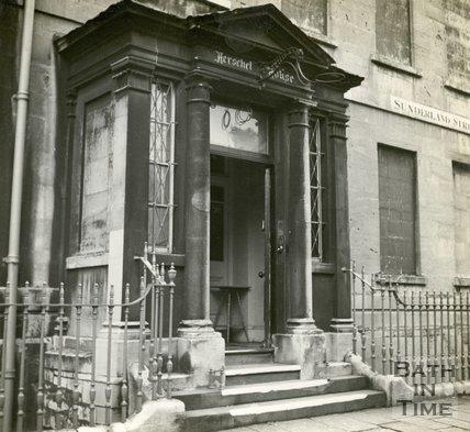 Herschel House doorway, Sunderland Street, Bath c.1945