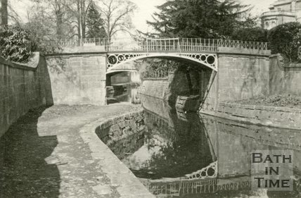 Bridge in Sydney Gardens on the Kennet and Avon Canal, Bath c.1950