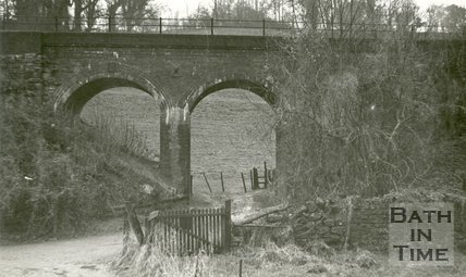 The Somerset and Dorset railway line at the west end of Lyncombe Vale, Bath 1968