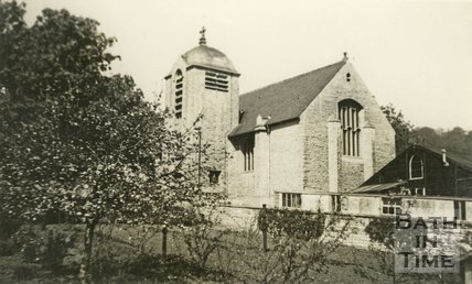 The chapel at Monkton Combe School c.1950?