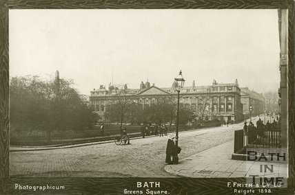 A Photographicum of Queen Square, Bath 1890