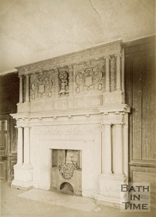 The fireplace in the green room, South Wraxall Manor c.1890