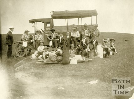Twerton scouts outing to Clevedon 1923