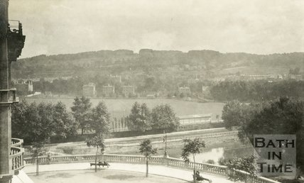 View of the recreation ground and Grand Parade from the Empire Hotel, Bath 1905