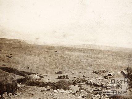 Unloading supplies on the Island of Imbros (G̦k̤eada), Turkey