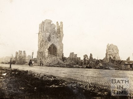 Ruins of Cloth Hall Tower, Ypres, Belgium