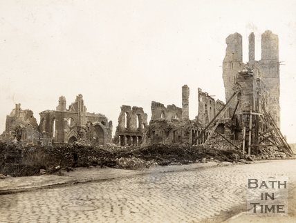 Cloth Hall & Tower ruins, Ypres, Belgium