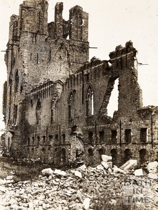 Cloth Hall ruins, Ypres, Belgium
