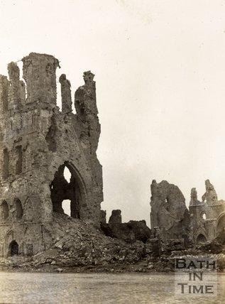 Cloth Hall ruins, Ypres, Belgium