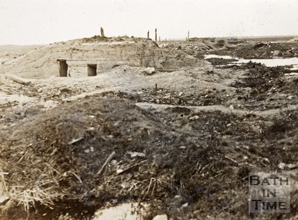 German pill boxes on Menin road, near Ypres, Belgium