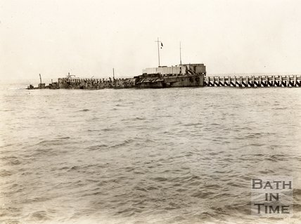 HMS Vindictive, Ostend, Belgium - sunk as a blockship for the second Ostend Raid 10 May 1918