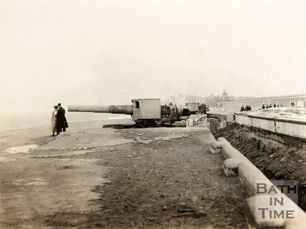 German battery on front at Ostend, Belgium