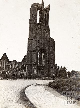 Vlamertinghe Church in ruins, nr Ypres, Belgium