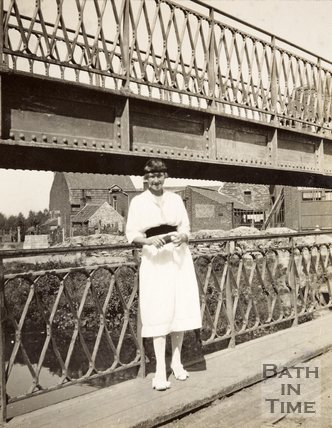 Mademoiselle Joan Letierce who worked the lock gates at Arques, France, all the war