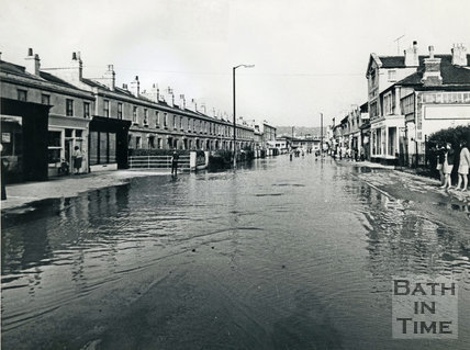 Floods in Bath, July 1968 - Lower Bristol Road, Bath