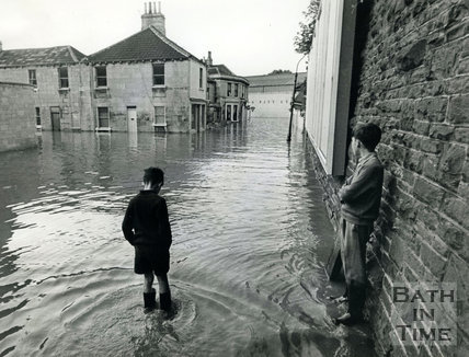 Floods, July 1968 - Cheltenham Street, Bath