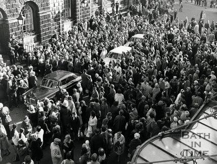 Prince of Wales visits Bath, November 1972