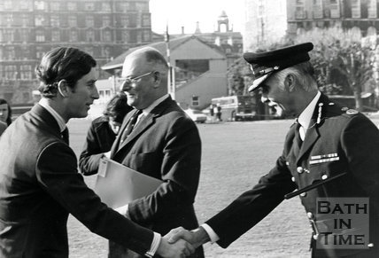 Prince of Wales visits Bath, November 1972