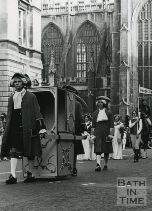 Monarchy 1000 Procession, Sedan Chair, May 1973, Bath