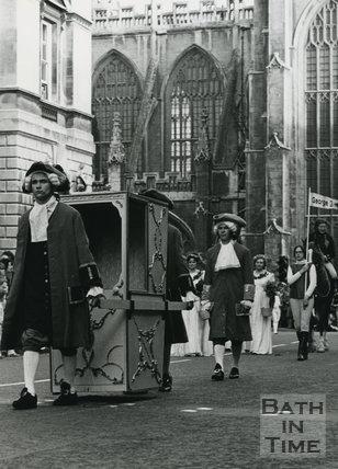 Monarchy 1000 Procession, Sedan Chair, May 1973, Bath