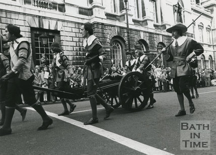 Monarchy 1000 Procession, Oliver Cromwell's Roundheads, May 1973, Bath