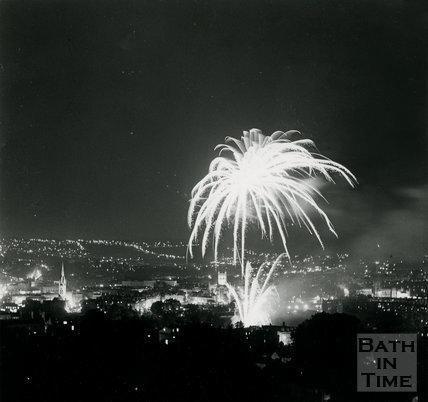 Monarchy 1000 Firework display (after procession) May 1973, Bath