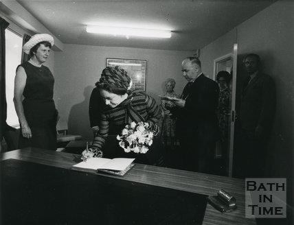 Princess Margaret at the new Bath Y.M.C.A. 10th July 1973