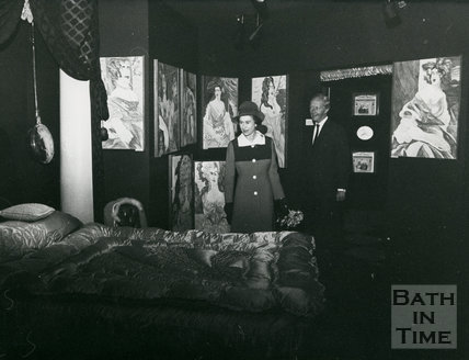 Queen Elizabeth visiting the Sovereigns Exhibition, Bath, August 1973