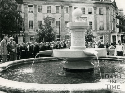 Opening of the new fountain in Laura Place, 8 September 1977 Bath