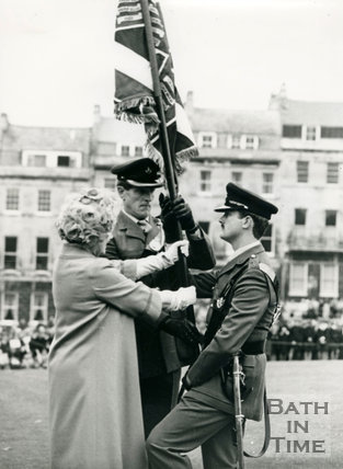 Queen Mother's visit to Bath 26 October 1979
