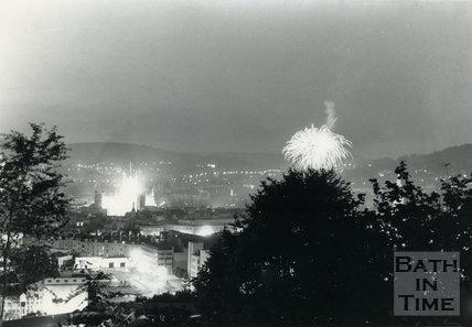 Royal Wedding Fireworks, Bath, 1981